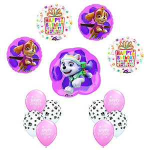 PAW PATROL SKYE & EVEREST Birthday Balloons Decoration Party Supplies 13 pc