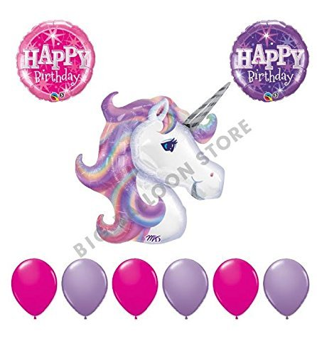9pc Unicorn Birthday Party Balloon bouquet