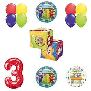 Teletubbies 3rd birthday CUBZ Balloon Birthday Party supplies and Decorations