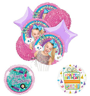 JoJo Siwa Party Supplies and Dream Crazy Big Birthday Balloon Bouquet Decorations