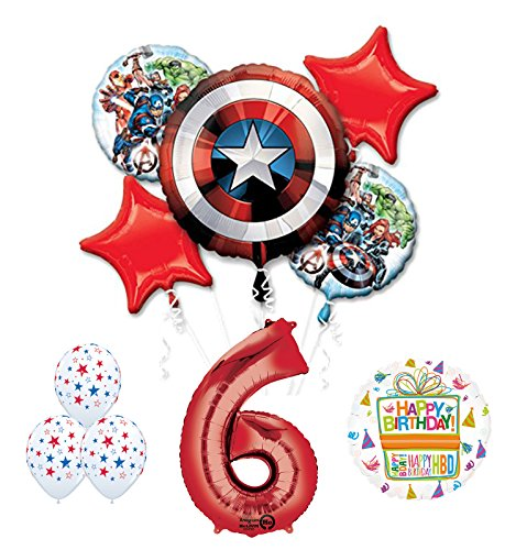 The Ultimate Avengers Super Hero 6th Birthday Party Supplies and Balloon Decorations