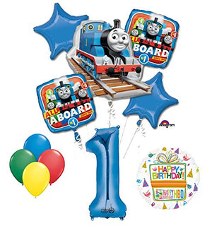 The Ultimate Thomas the Train Engine 1st Birthday Party Supplies and Balloon Decorations