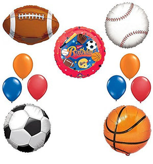 The Ultimate Sports Theme Birthday Party Supplies and Balloon Decorating Kit