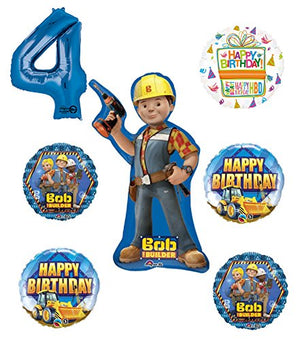 Bob The Builder Construction 4th Birthday Party Supplies and Balloon Decorations