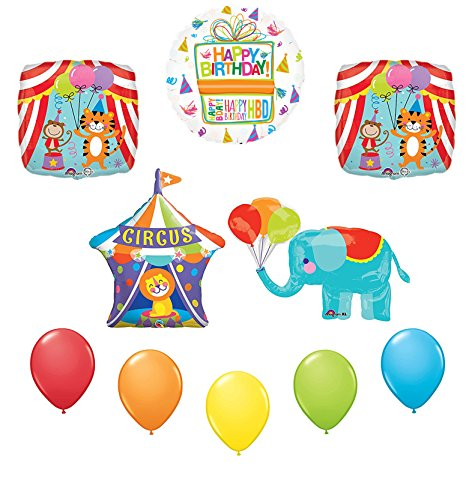 Circus Elephant Birthday Party Supplies Decoration Balloon Kit
