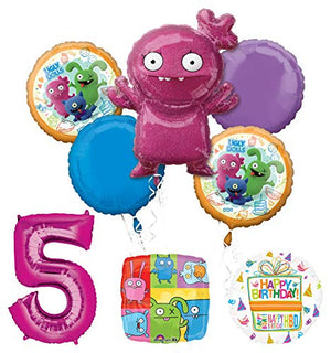 Mayflower Products Ugly Dolls 5th Birthday Party Supplies Balloon Bouquet Decorations