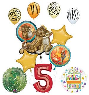 Lion King Party Supplies 5th Birthday Balloon Bouquet Decorations