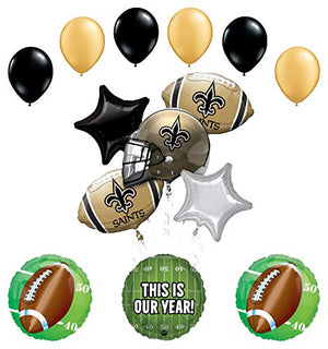 Mayflower Products Orleans Saints Football Party Supplies This is Our Year Balloon Bouquet Decoration