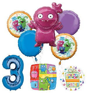 Mayflower Products Ugly Dolls Party Supplies 3rd Birthday Balloon Bouquet Decorations