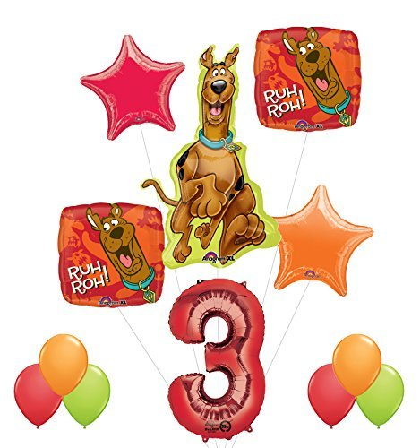 Scooby Doo 3rd Birthday Party Supplies and Balloon Decorations