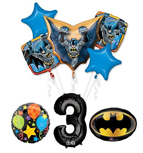 The Ultimate Batman 3rd Birthday Party Supplies and Balloon Decorations