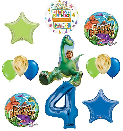 Arlo and Spot The Good Dinosaur 4th Birthday Party Supplies and Balloon Decorations