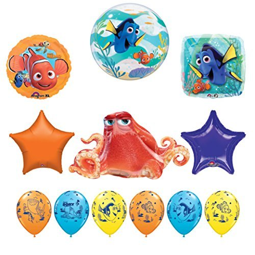 12 pc Finding Dory Nemo and Hank Birthday Party Balloon supplies decorations