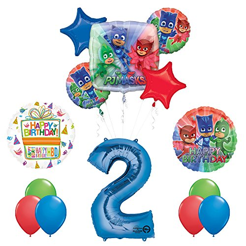The Ultimate PJ MASKS 2nd Birthday Party Supplies and Balloon decorations