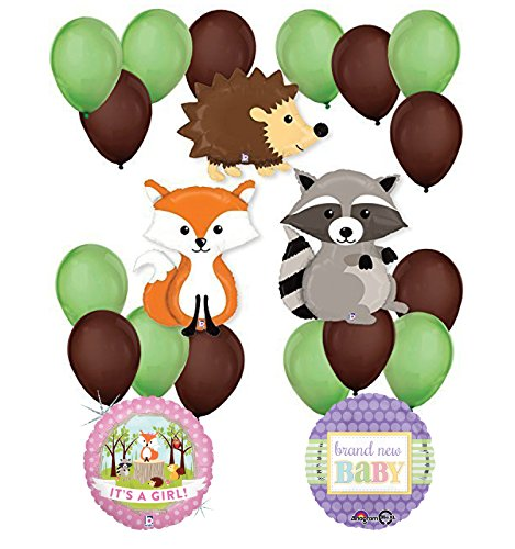 Woodland Critters Creatures Baby Girl Baby Shower Party Supplies