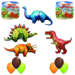 The Ultimate Prehistoric 12 pc Giant Dinosaur Birthday Balloon Decoration Kit