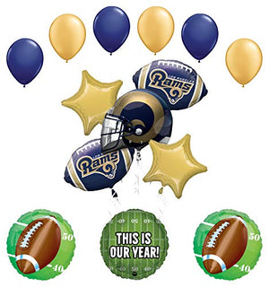 Mayflower Products Los Angeles Rams Football Party Supplies This is Our Year Balloon Bouquet Decoration
