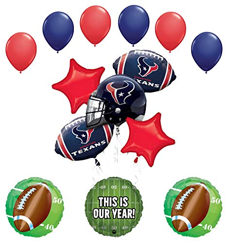 Mayflower Products Houston Texans Football Party Supplies This is Our Year Balloon Bouquet Decoration