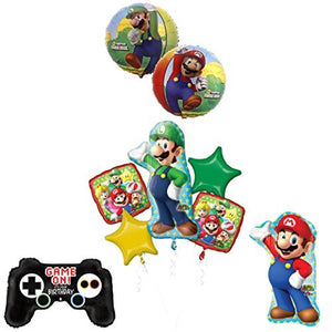 The ULTIMATE Super Mario Brothers and Luigi Video Game Birthday Party Supplies Decorations