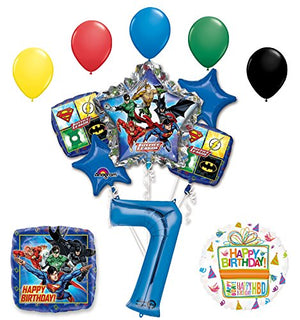The Ultimate Justice League Superhero 7th Birthday Party Supplies and Balloon Decorations