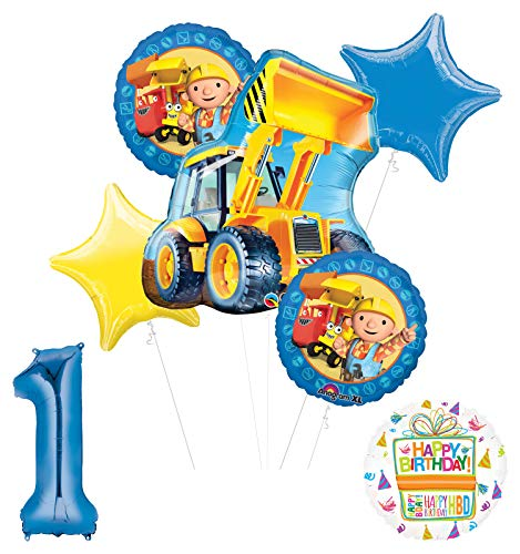 Mayflower Products Bob The Builder Construction Party Supplies 1st Birthday Balloon Bouquet Decorations
