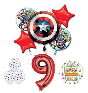 The Ultimate Avengers Super Hero 9th Birthday Party Supplies and Balloon Decorations