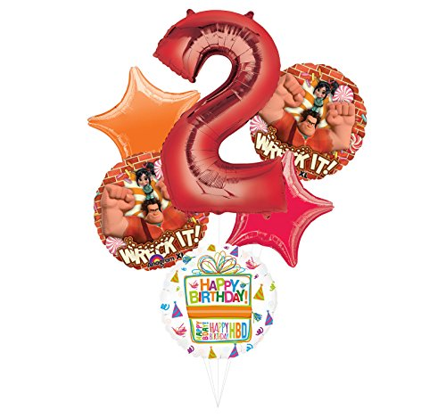Wreck It Ralph Party Supplies 2nd Birthday Balloon Bouquet Decorations