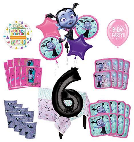 Mayflower Products Vampirina 6th Birthday Party Supplies 8 Guest Decoration Kit and Balloon Bouquet