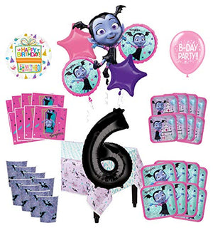 Mayflower Products Vampirina 6th Birthday Party Supplies 16 Guest Decoration Kit and Balloon Bouquet 90 pc