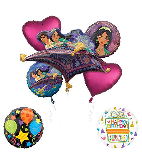 Mayflower Products Aladdin Birthday Party Supplies Princess Jasmine Balloon Bouquet Decorations