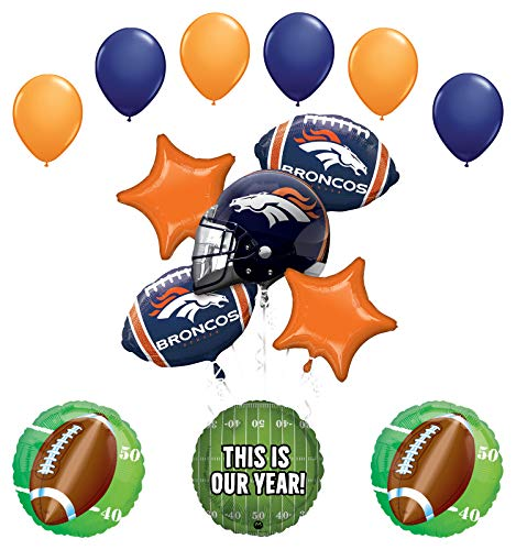 Mayflower Products Denver Broncos Football Party Supplies This is Our Year Balloon Bouquet Decoration