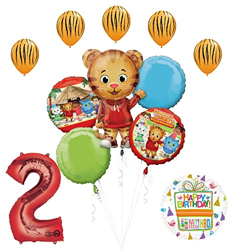 The Ultimate Daniel Tiger Neighborhood 2nd Birthday Party Supplies and Balloon Decorations
