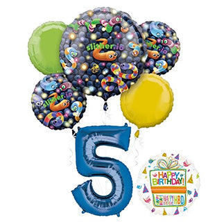 Slither.io Party Supplies 5th Birthday Video Game Balloon Bouquet Decorations