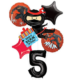 Mayflower Products Ninja Birthday Party Supplies Have A Happy Kickin 5th Birthday Balloon Bouquet Decorations
