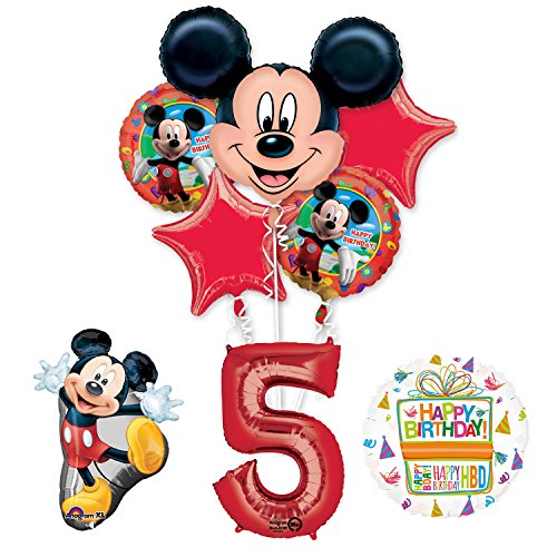 The Ultimate Mickey Mouse 5th Birthday Party Supplies and Balloon Decorations