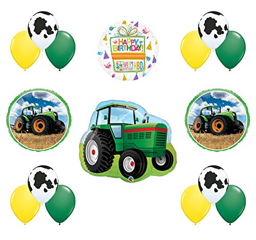 Mayflower Products Farm Tractor Birthday Balloon Bouquet Decorations and Party Supplies