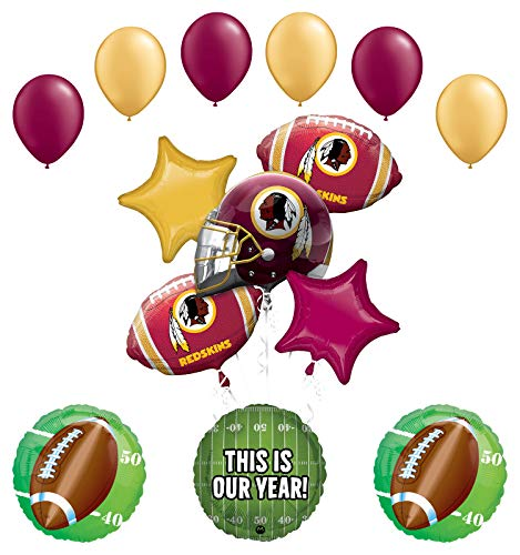 Mayflower Products Washington Redskins Football Party Supplies This is Our Year Balloon Bouquet Decoration