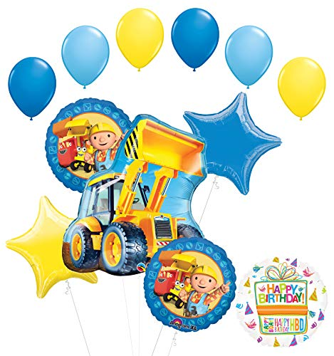 Mayflower Products Bob The Builder Construction Party Supplies Birthday Balloon Bouquet Decorations