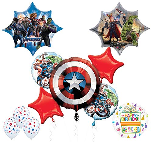 Mayflower Products Avengers Endgame Birthday Party Supplies and Balloon Bouquet Decorations