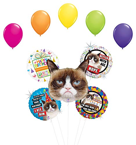 Grumpy Cat Birthday Party Supplies Balloon Bouquet Decorations