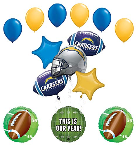 Mayflower Products Los Angeles Chargers Football Party Supplies This is Our Year Balloon Bouquet Decoration
