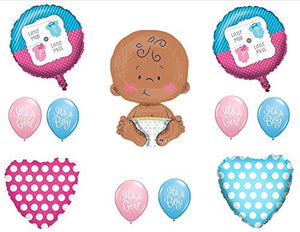 "Little Man or Little Miss GENDER REVEAL BOY GIRL 24"" CELEBRATE BABY SHOWER Balloons Decorations Supplies"