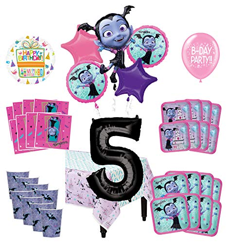 Mayflower Products Vampirina 5th Birthday Party Supplies 16 Guest Decoration Kit and Balloon Bouquet