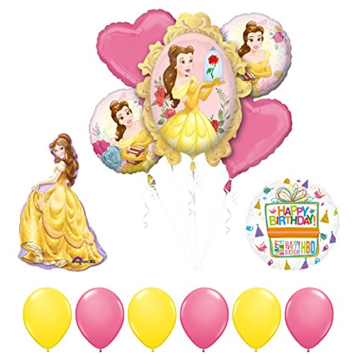 Beauty and The Beast Belle Birthday Party Balloon supplies decorations