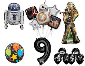The Ultimate Star Wars 9th Birthday Party Supplies and Balloon decorations