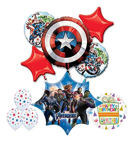 Mayflower Products The Ultimate Avengers Endgame Birthday Party Supplies and Balloon Decorations
