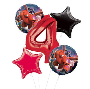 Mayflower Products Big Hero 6 Party Supplies 4th Birthday Balloon Bouquet Decorations