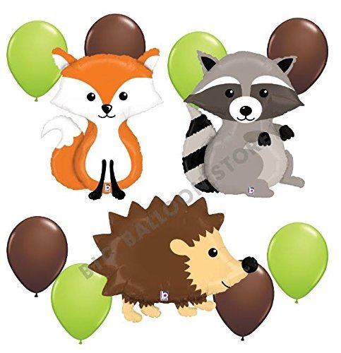 Woodland Critters 11pc Balloon Party Kit