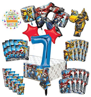 Transformers 7th Birthday Party Supplies 8 Guest Decoration Kit and Balloon Bouquet -