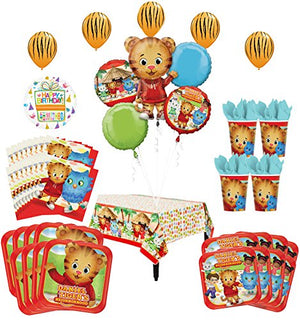 Daniel Tiger Neighborhood Birthday Party Supplies and 8 Guest 52pc Balloon Decoration Kit